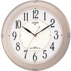 シチズン リズム時計工業 電波壁掛け時計 ネムリーナM419 8MY419-018 シャンペンゴールド アナログ