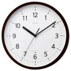 シチズン リズム時計工業 スタンダードスタイル101 見やすいデザイン 電波壁掛け時計 8MY466RH06 茶色 アナログ木枠