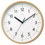 シチズン リズム時計工業 スタンダードスタイル101 見やすいデザイン 電波壁掛け時計 8MY466RH07 茶色 アナログ木枠