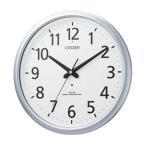 CITIZEN 防水電波壁掛け時計 8MY493-019 スペイシーアクア493 シルバーメタリック色(白) アナログ