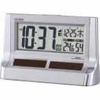 シチズン リズム時計工業 8RZ128-019 ソーラー電源電波めざまし時計 パルデジットソーラーR128