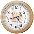 SEIKO セイコー クロック キャラクター ディズニー ディズニー壁掛け時計 電波からくり壁掛け時計 FW561A 薄茶マーブル模様 メロディ6曲収録 アナログ