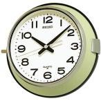 SEIKO セイコー クロック 船舶時計 バス時計 防塵型 クォーツ掛け時計 KS474M アナログ 金属薄緑