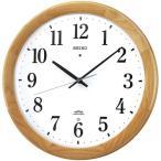 SEIKO セイコー クロック 連続秒針スイープ シンプル おやすみ秒針 電波掛け時計 電波壁掛け時計 KX311B アナログ 木枠天然色