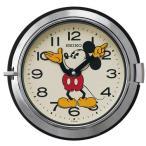 SEIKO CLOCK セイコークロック 大人 ディズニー クォーツ壁掛け時計 FS504S ミッキーマウス 防塵型 レトロ調 スチール 銀色 アナログ