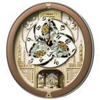 セイコー RE573B からくり 電波壁掛け時計 ブラウン 茶色 アナログ 掛時計 仕掛け時計 カラクリ メロディー 音楽