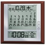 SEIKO セイコー クロック 月めくり・六曜表示 温度・湿度・カレンダー 電波掛置兼用時計 SQ421B デジタル
