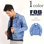 ショッピングused FOB FACTORY(FOBファクトリー) F2339 デニムジャケット(ユーズド加工) 13.5oz セルヴィッチ / タイプ 1ST / ジージャン / メンズ / 日本製