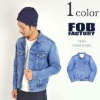 ショッピングused FOB FACTORY(FOBファクトリー) F2340 デニムジャケット(ユーズド加工) 13.5oz セルヴィッチ / タイプ 3RD / ジージャン / メンズ / 日本製