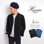 HARRISS(ハリス) ストレッチコーデュロイ スタンドカラーシャツ / バンドカラーシャツ / シャツジャケット / メンズ / 日本製