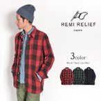 ショッピング古着 REMI RELIEF(レミレリーフ) レーヨンブロックチェック CPOシャツ / シャツジャケット / 長袖 / メンズ / 日本製