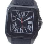 カルティエ メンズ腕時計 サントス100 LM カーボンウォッチ WSSA0006 ステンレスADLC 中古A品 1374431_関内店