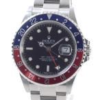 ロレックス メンズ腕時計 GMTマスター2 スティックダイヤル 16710BK/RD ステンレス 中古A品 1380722_新宿店