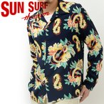 サンサーフ SUN SURF アロハ シャツ 長袖 MACINTOSH UKULELE ハワイアン ウクレレ 東洋 SS27443