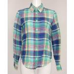 ラルフローレン RALPH LAUREN グリーンダンガリーシャツ XS