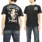 スカルワークス 半袖Tシャツ SKULL WORKS タトゥーガール エイトボール アニバーサリーTシャツ 111731 黒 新品