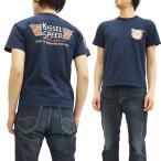 フェローズ 半袖Tシャツ 16S-PT3 Pherrow's Tシャツ KISSEL SPEED G.ネイビー 新品
