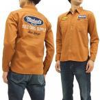 フェローズ 長袖シャツ Pherrows カスタム ワークシャツ MICHAELS ワッペン&刺繍 17W-730WS-P レッドブラウン 新品