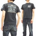 ショッピングアメカジ フェローズ Tシャツ Pherrow's 半袖Tシャツ Foster Lube Oil アメカジ ワーク Tシャツ 18S-PT12 S.ブラック 新品