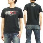 陸王 半袖Tシャツ 和製ハーレーダビッドソン バイク 44RG002 黒 新品