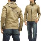 グラディエイト フェイクレザー パーカージャケット 453531 GLADIATE メンズ JKT ベージュ 新品