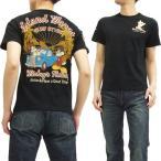 ミッキーマウス Tシャツ 58505 ミニーマウス サーフ ローブローナックル メンズ 半袖tee 黒 新品