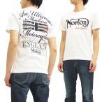 Norton 半袖Tシャツ ノートンモーターサイクル Tシャツ 62N1003 ロゴ刺繍 メンズ オフ白 新品
