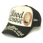 ショッピングメッシュキャップ ブラッドメッセージ メッシュキャップ blood message エフ商会 帽子 blc-500 オフ白x黒 新品