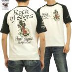 ブラッドメッセージ Tシャツ BLOOD MESSAGE 十字架 Rock of Ages エフ商会 BLST-490 オフ白×黒 新品