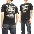 カミナリモータース Tシャツ KAMINARI 半袖Tシャツ 2代目ローレル C130型 ブタケツ KMT-169 エフ商会 黒 新品