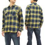Lee ネルチェック ワークシャツ LT0596 リー メンズ ネルシャツ 長袖シャツ lt0596 イエロー 新品