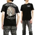 クローズ×ワースト Tシャツ スカルワークス 藤代拓海モデル 半袖Tシャツ インディアンスカル SCW-1140 黒 新品