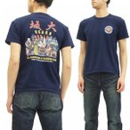 サムライジーンズ 半袖Tシャツ Samurai Jeans 大阪 Tシャツ SJST17-103 紺 新品