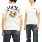アルファインダストリーズ 半袖Tシャツ TC1149 フライングタイガー ALPHA ミリタリーTシャツ TC1149 白 新品