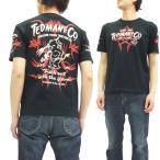 テッドマン 半袖Tシャツ TDSS-443 TEDMAN Tシャツ レッドデビル ピンストライプ エフ商会 黒 新品