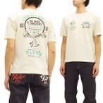 テッドマン 半袖Tシャツ TDSS-457 TEDMAN Tシャツ LUCKY RED DEVILS レトロ柄 エフ商会 オフ白 新品