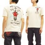 TEDMAN 半袖Tシャツ TDSS-463 テッドマン Tシャツ TED'S MOTORCYCLE バイク柄 エフ商会 オフ白 新品