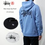 ショッピングSTUSSY STUSSY ステューシー スウェット・パーカー Basic Stussy Zip Hood 17C1974143 メンズ 2017 ブラック ストリート スケボー