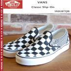 VANS バンズ シューズ スニーカー Classc Slip On (Mix Checker) Black/True White VN0A38F7Q9B 靴 スリッポン スケボー ストリート