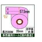 ポイント2倍! 券売機 ロール紙  5巻入り ピンク ミシン入り 幅57.5mm 長さ300M 食券 感熱ロール カラーサーマルロール チケットロール 発券機  6:4