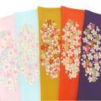 半衿 振袖 刺繍 矢羽根 梅 花 ピンク 水色 からし 橙 紫 半襟 成人式 フォーマル 日本製 シルエリー 矢羽根 に 梅 03501743 b981 TSi
