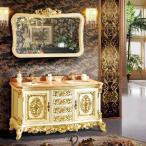 輸入洗面台化粧台・ホワイト系アンティーク調洗面化粧台 BD-8030・輸入家具