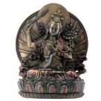 蓮の上に座っている、文殊菩薩 仏像彫刻 彫像/ Manjushri Sitting On Lotus Buddhism Display Statue(輸入品