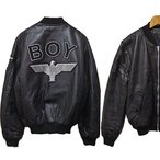 BOY LONDON VINTAGE Leather Bomber Jacket MA-1 ボーイロンドン  BOY EAGLE フライングジャケット