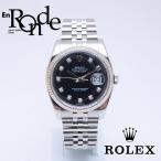 ロレックス ROLEX メンズ腕時計 デイトジャスト 116234G SS/WG/ダイヤ入り 黒文字盤 中古 新入荷 おすすめ