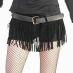 フリンジ スエード ベルト 幅広 黒 ブラック ダンス衣装 ベルト  ネコポス不可