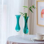 多彩 (2点グーリン)セット花瓶 吊り下げ式試験管花瓶 ミニ花器 ガラス製 透明 フラワーベース 一輪挿し 水栽培 試験管 ガラス管 水耕栽培花瓶 ガ