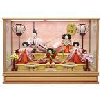 雛人形 ケース飾り ひな人形 桜柄バック五人ケース飾り 小町 W63×D38×H44cm