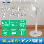 リビング扇風機 シンプル 扇風機 リビングメカ扇風機 首振り フラットガード ホワイト TEKNOS(テクノス) KI-1735-W