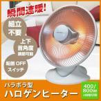電気ヒーター ハロゲンヒーター 800W パラボラ型 上下角度調整 2秒即暖 TEKNOS テクノス PH-800 電気ストーブ